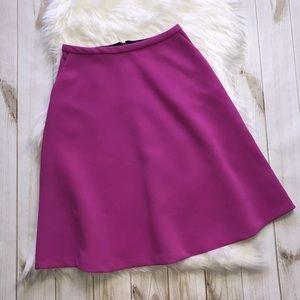 Topshop Skater Skirt Mid Knee Length Fuschia